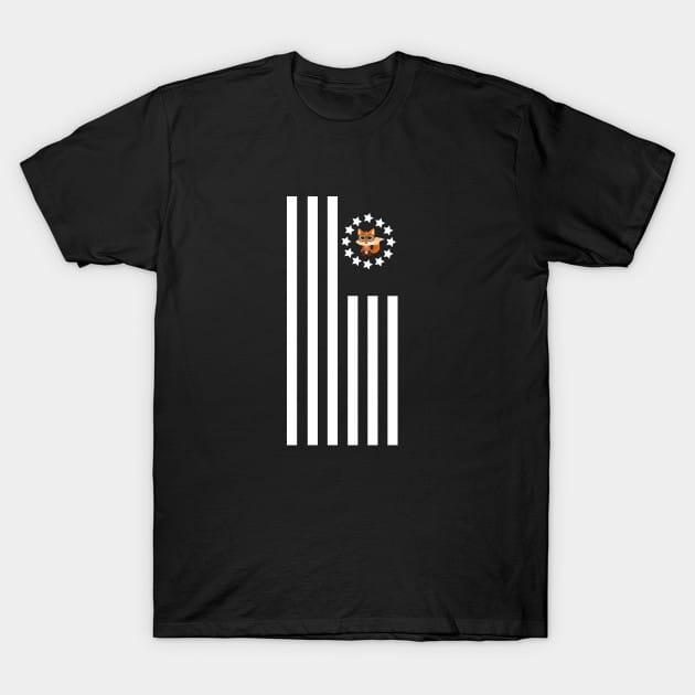 Fox Nerd – Flag T-Shirt