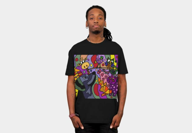 Funky Colorful Animals Abstract Art