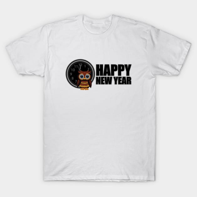 Happy New Year – Owl T-Shirt