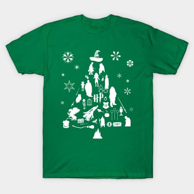 Harry Potter Christmas Tree Silhouette T-Shirt