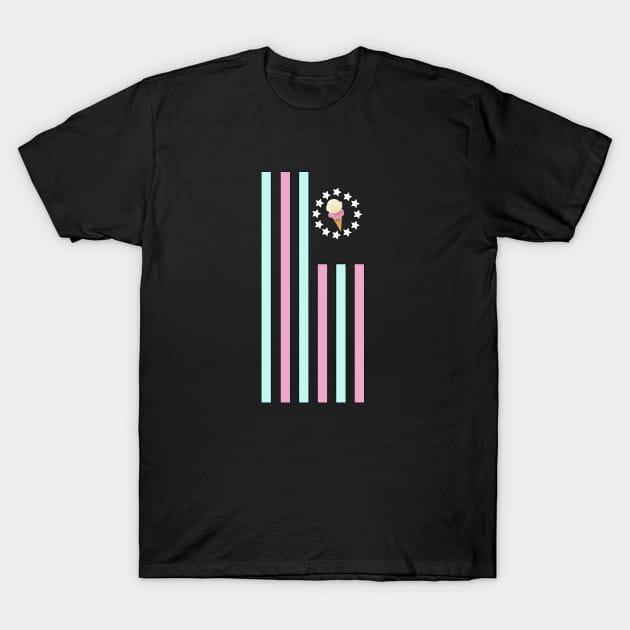 Ice Cream – Flag T-Shirt