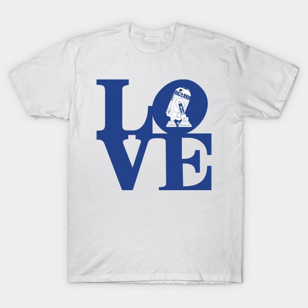 Love – Blue Robot Edition T-Shirt