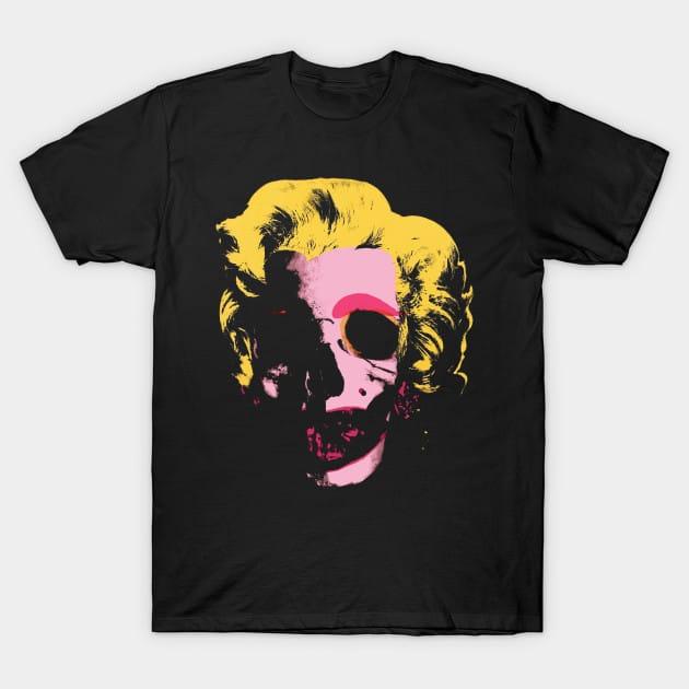 Marilyn Monroe Pop Art Skull T-Shirt