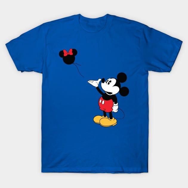 Mickey Banksy Baloon T-Shirt