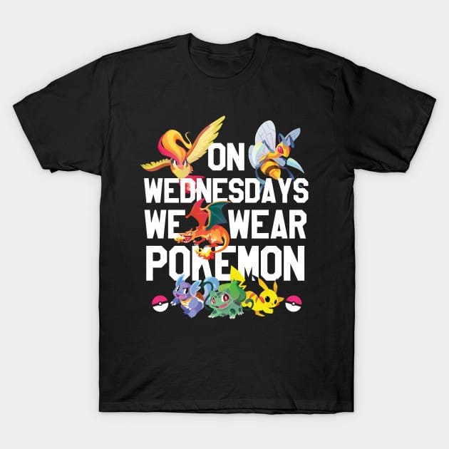 On Wednesdays We Wear Pokemon T-Shirt