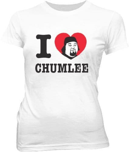 Pawn Stars I Heart Chumlee Juniors White T-shirt