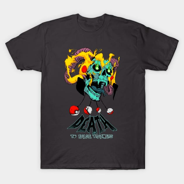 Pokemon – Death To False Trainers Skull T-Shirt