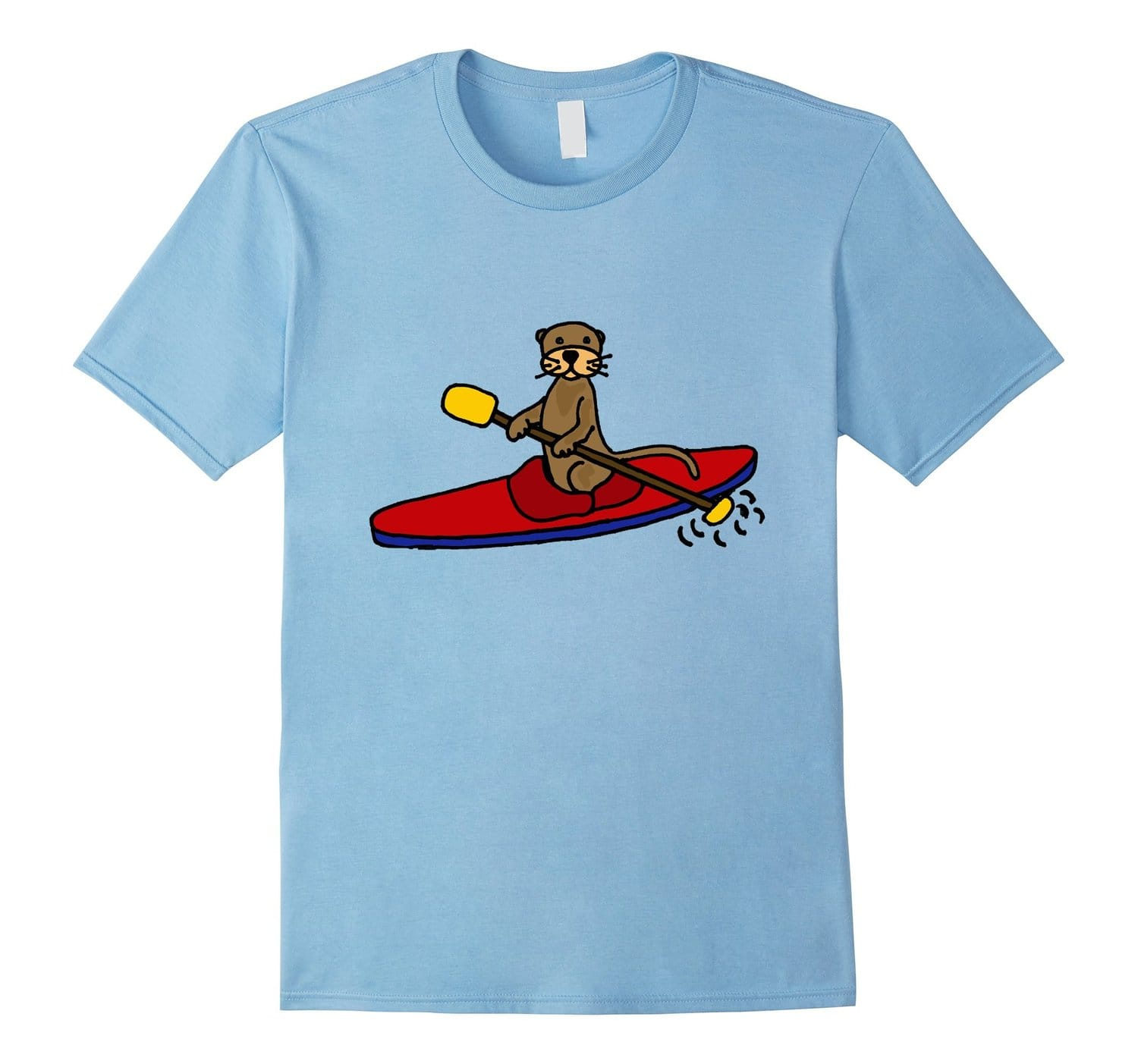 Smiletodaytees Funny Sea Otter Kayaking