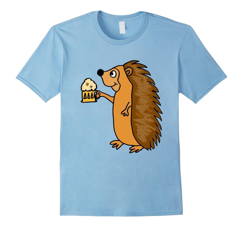 Smiletodaytees Hedgehog Drinking Beer