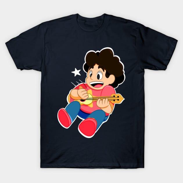 Steven playing uke T-Shirt