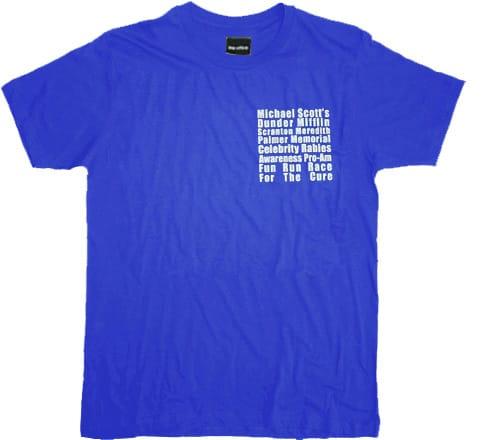The Office Michael Scott's Fun Run Race Blue T-Shirt