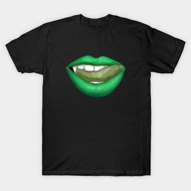 Vampire Lips – Green T-Shirt