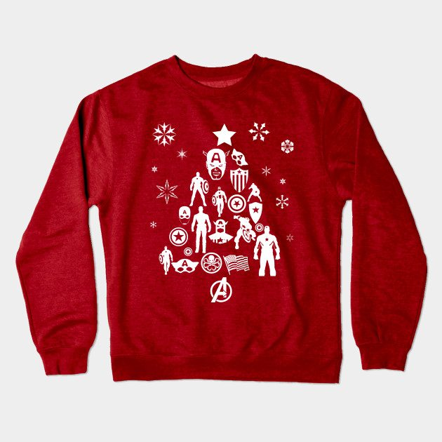 Xmas Tree Captain America Christmas Jumper