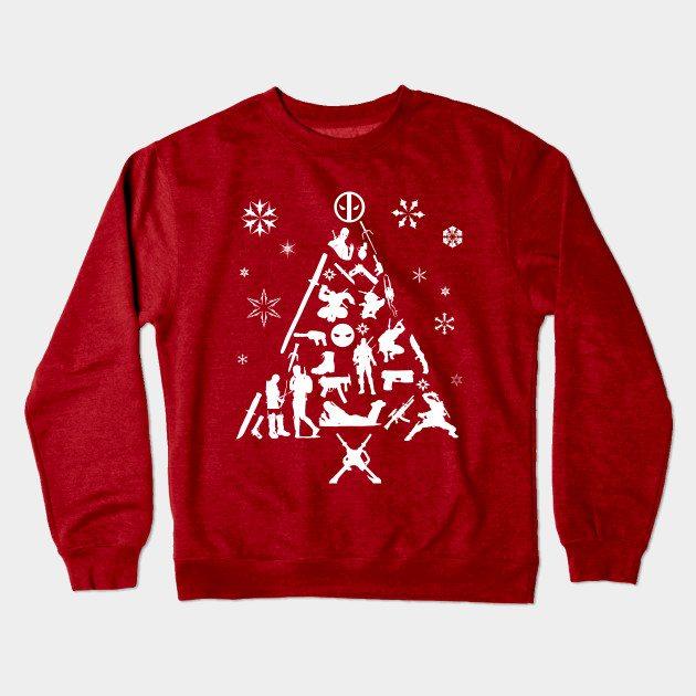 Xmas Tree Deadpool Christmas Jumper