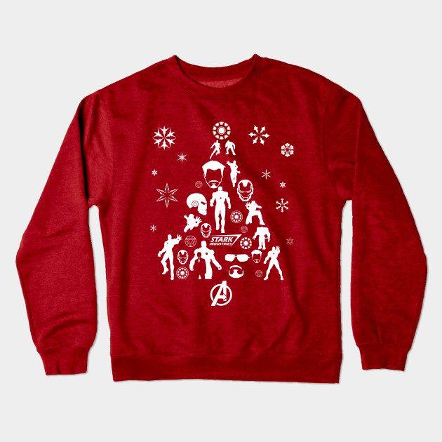 Xmas Tree Iron Man Christmas Jumper