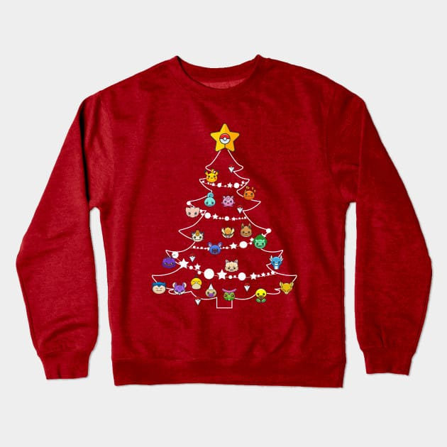 Xmas Tree Pokemon Bulbs Christmas Jumper
