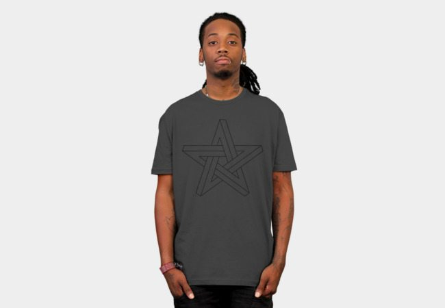3D impossible pentagram black