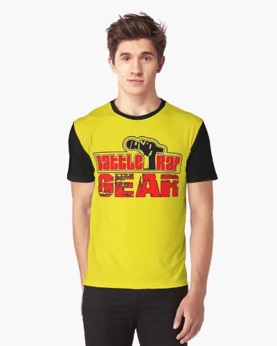 Battle Rap Gear Logo Graphic Tee – Black n Yellow