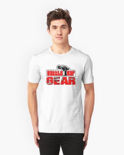 Battle Rap Gear Logo Tee – White / Red