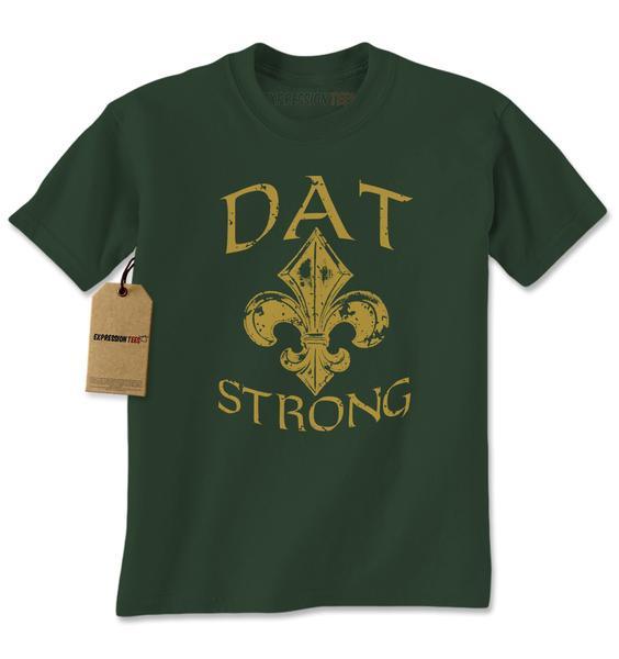 Dat Strong New Orleans Football Mens T-shirt