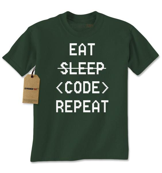 Eat Sleep Code Repeat Mens T-shirt