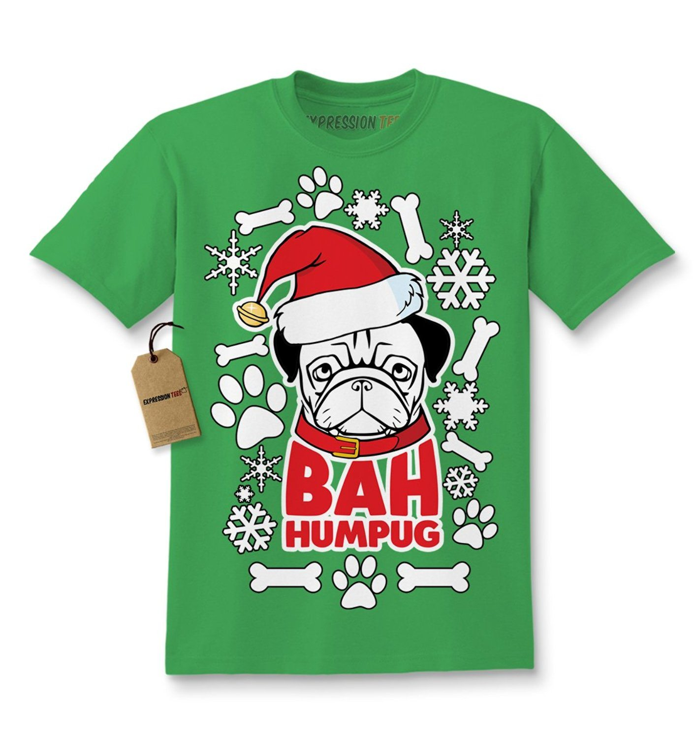 Expression Tees Bah HumPug Ugly Christmas Holiday Kids