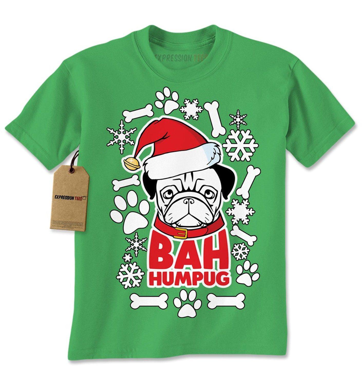Expression Tees Bah HumPug Ugly Christmas Holiday Mens