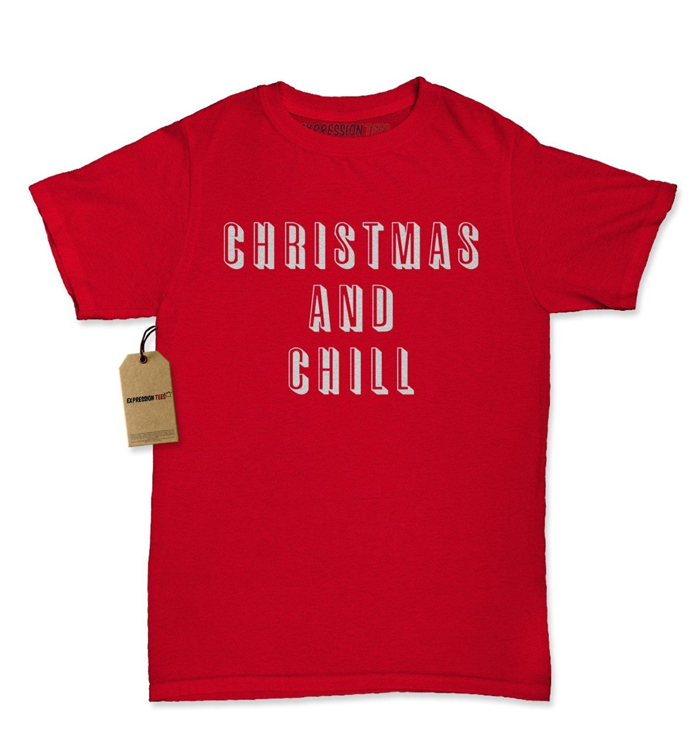 Expression Tees Christmas And Chill Womens