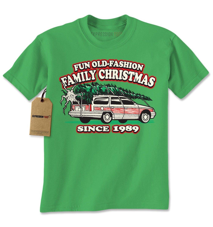 Expression Tees Christmas Vacation Woody Wagon Christmas Tree Mens