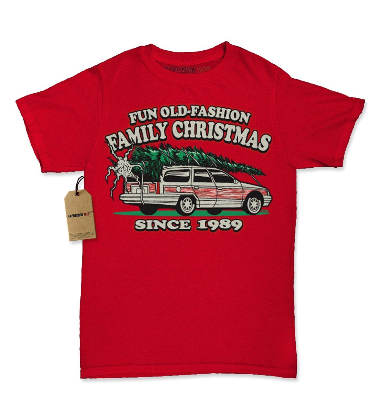 Expression Tees Christmas Vacation Woody Wagon Christmas Tree Womens