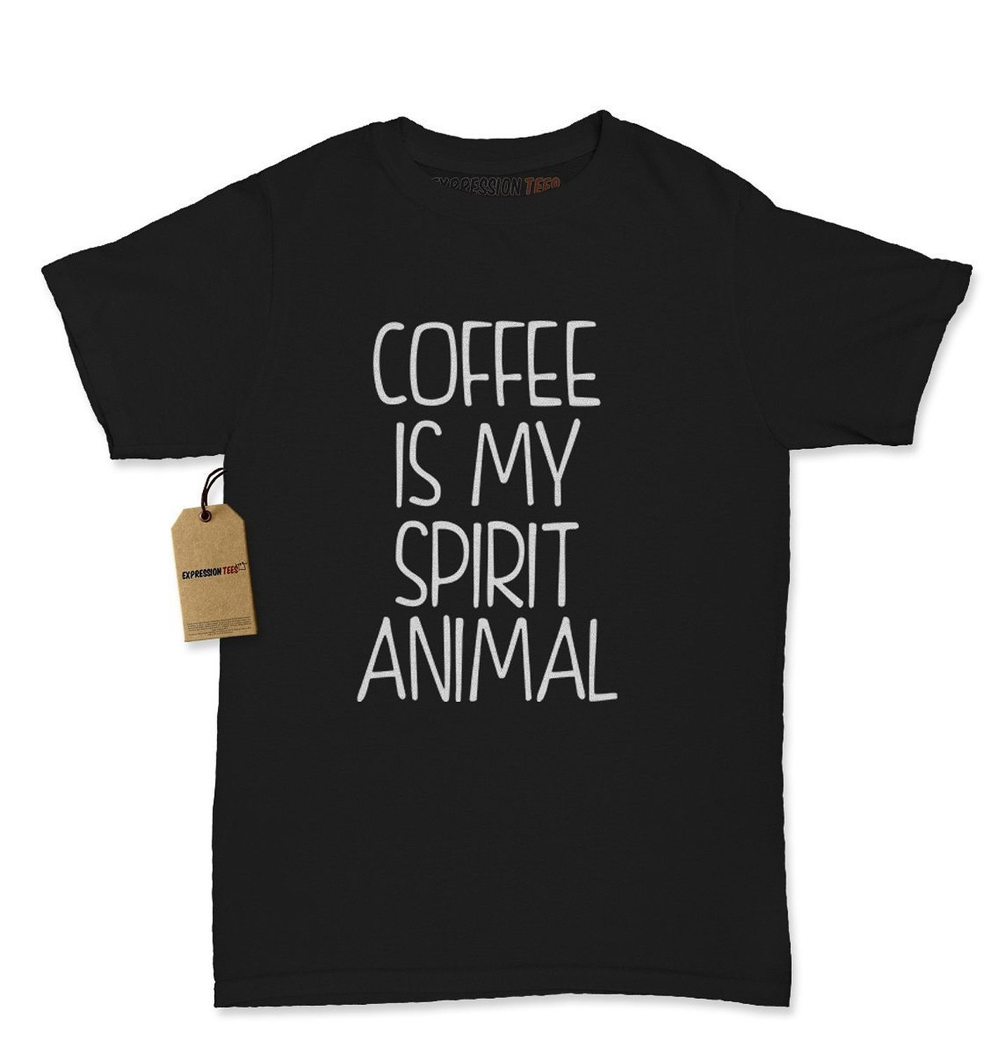 Expression Tees Coffee Is My Spirit Animal Womens