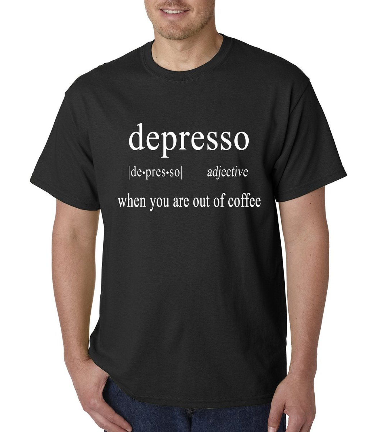 Expression Tees Depresso – Coffee Lovers Definition Mens