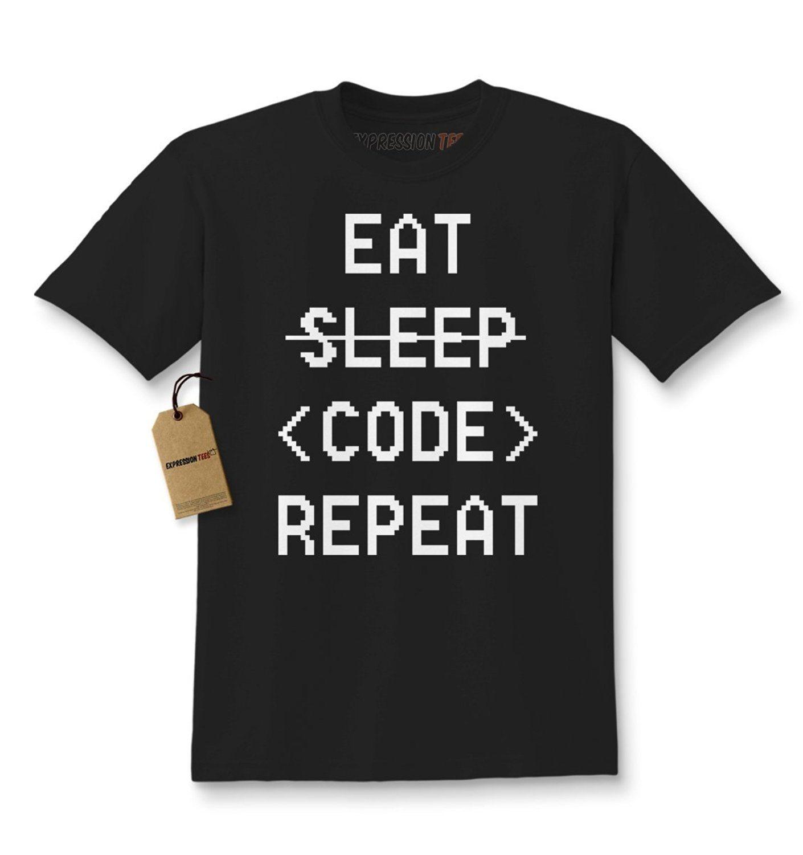 Expression Tees Eat Sleep Code Repeat Kids