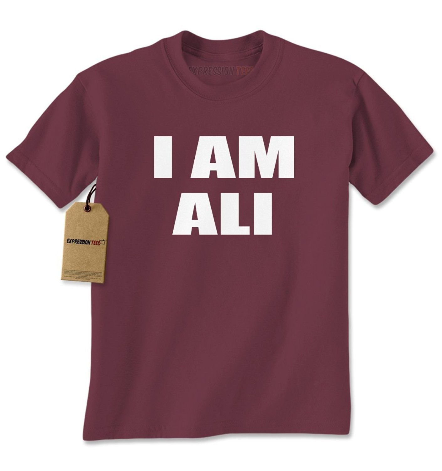 Expression Tees I Am Ali Tribute Mens