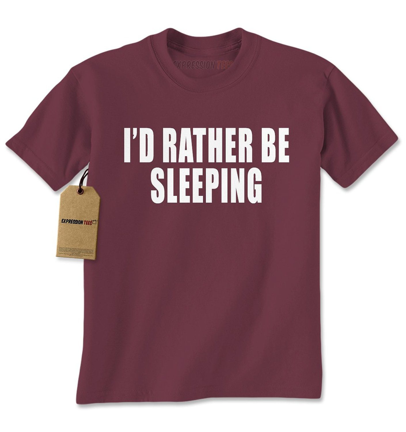 Expression Tees I'd Rather Be Sleeping Mens