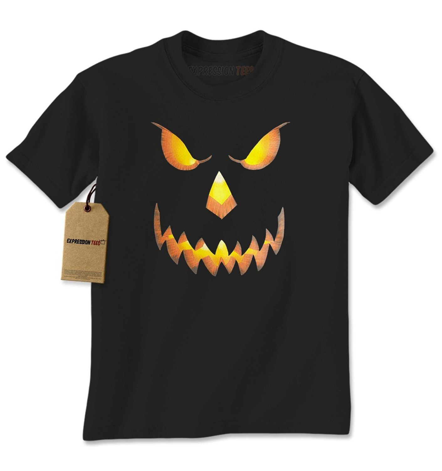 Expression Tees Jack-O-Lantern Glowing Pumpkin Face Mens