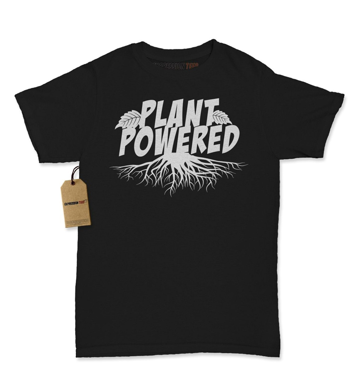 Expression Tees Plant Powered Vegan Vegetarian Support Womens