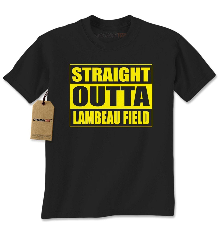 Expression Tees Straight Outta Lambeau Field Football Mens