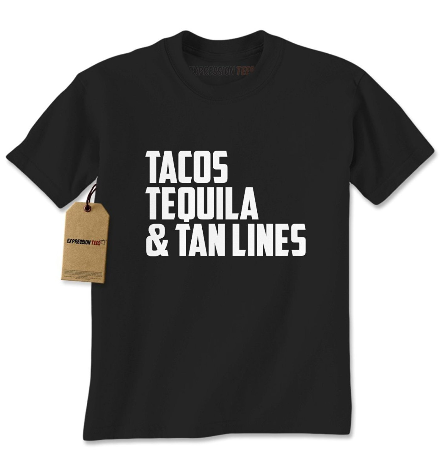Expression Tees Tacos, Tequila & Tan Lines Mens
