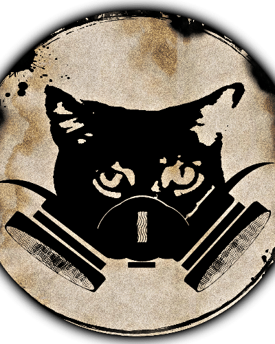 Gas Mask Cat