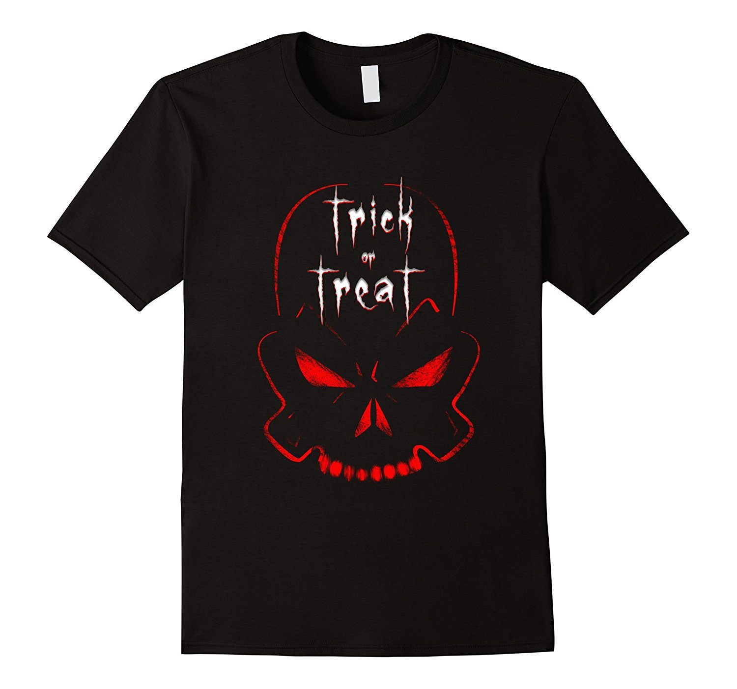 Halloween shirt with Trick or Treat Scary Skull