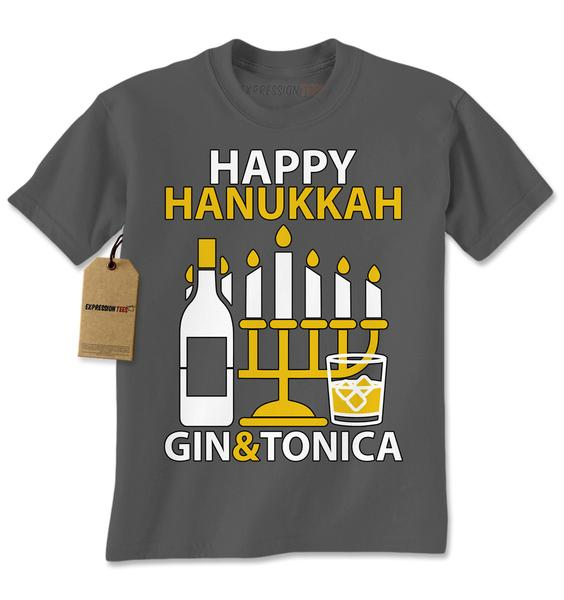 Happy Hanukkah Gin and Tonica -- Hanukkah Shirt