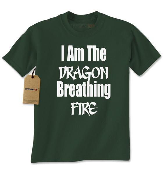 I Am The Dragon Breathing Fire Mens T-shirt