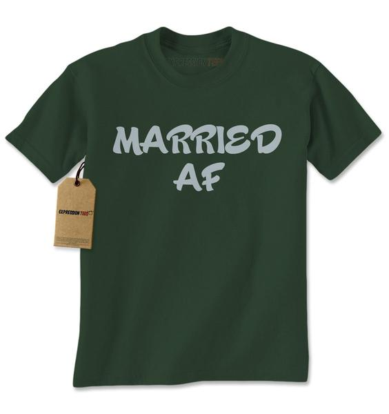 Married AF As Fuck Bride and Groom Mens T-shirt