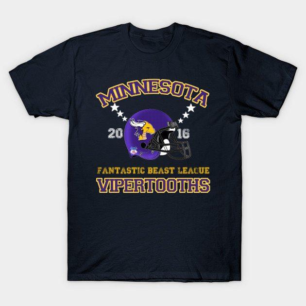Minnesota Vipertooths Helmet T-Shirt