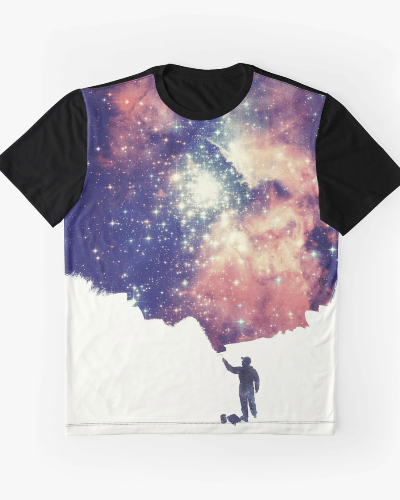 Painting the universe (Colorful Negative Space Art)
