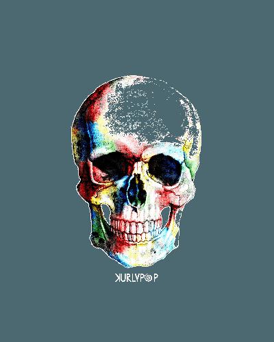 POPSKULL (by KURLYPOP SK8 Tees)