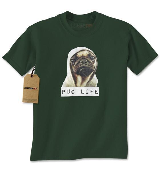 Pug Life Funny Thug Life Mens T-shirt
