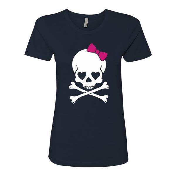 Skull Ribbon Halloween T Shirt