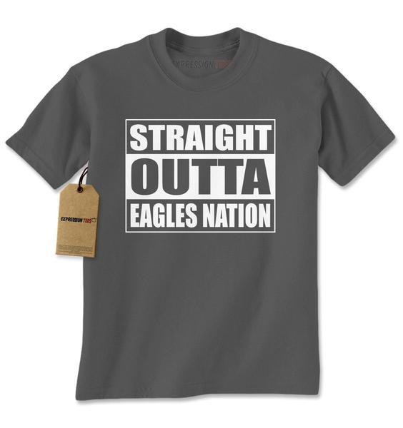 Straight Outta Eagles Nation Football Mens T-shirt